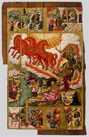Ανάληψη του προφήτη Ηλία και σκηνές του βίου του