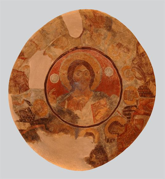 Dome with depictions of the Christ Pantokrator, prophets, angels and the Theotokos