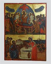 Dormition of the Theotokos and the Samaritan woman's meeting with Jesus.