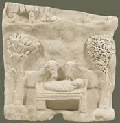 Marble slab with a representation of the Nativity