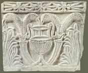 Marble pilaster capital