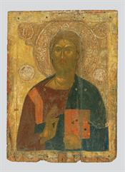 Christ Pantokrator and Cross in leaf