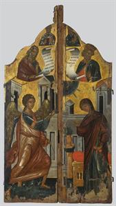 Βημόθυρα  με παράσταση του Ευαγγελισμού  με τους προφήτες Ησαΐα και Δαβίδ και με τους αγίους Ανδρέα και Νικόλαο