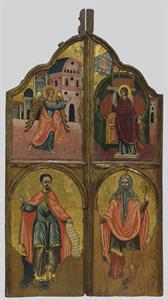 Sanctuary doors with the depiction of the Annunciation, Prophets Moses and Aaron