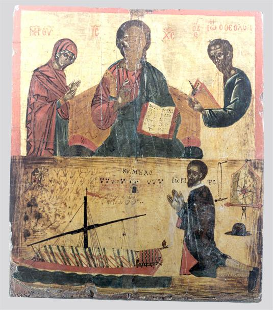 Deesis and votive scene