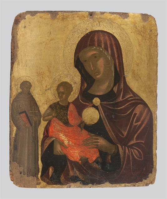 Η Παναγία Madre della Consolazione και ο άγιος Φραγκίσκος
