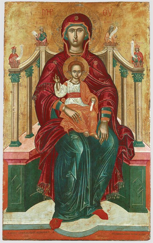The Virgin Brephokratousa Enthroned