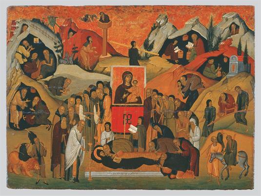 Η Κοίμηση του οσίου Εφραίμ του Σύρου