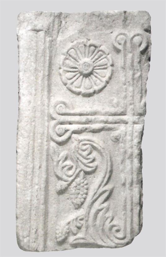 Foliate Cross and vegetal motifs