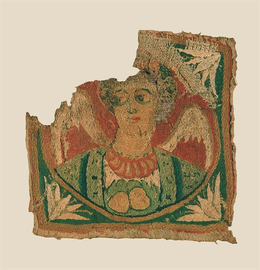 Part of dress with a depiction of Angel