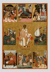 Saint Nicolas and scenes from his life