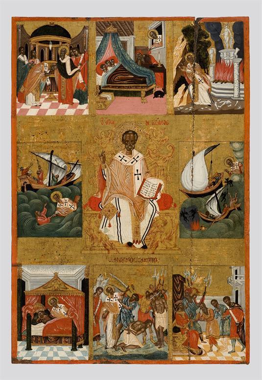 Άγιος Νικόλαος και σκηνές του βίου του
