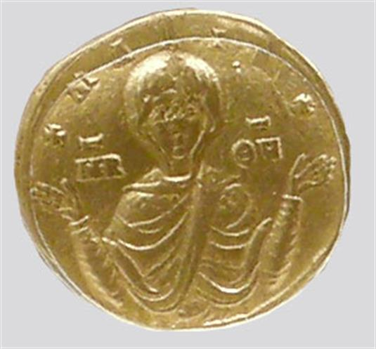 Solidus (gold coin) issued by the Emperor Basil I and his son Constantine