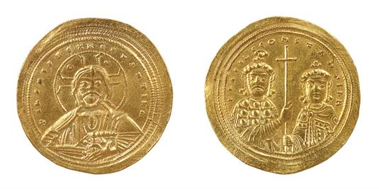 Histamenon (gold coin) issued by the Emperor Basil II