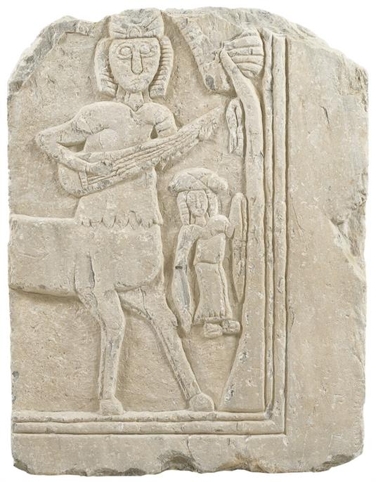 Marble plaque with a centaur and a dancer