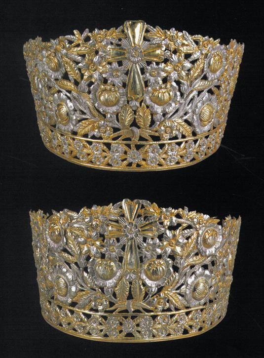 Silver wedding crowns