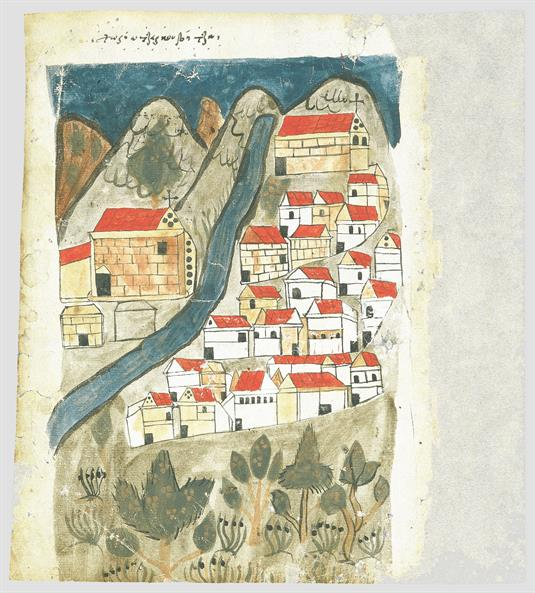Depiction of the village Tserkouvitsa