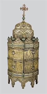 Wooden Ciborium (artophorion), Offering by Neophytos, Metropolitan of Adrianople