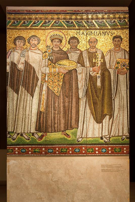 Ο αυτοκράτορας Ιουστινιανός με την ακουλουθία του