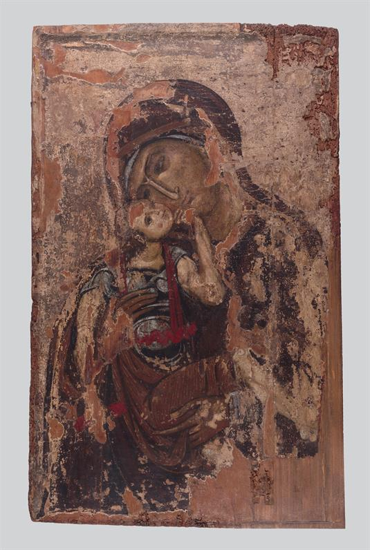Theotokos Glykophilousa and Cross
