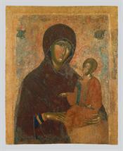 Θεοτόκος Οδηγήτρια (α΄ όψη), Σταύρωση (β΄ όψη)