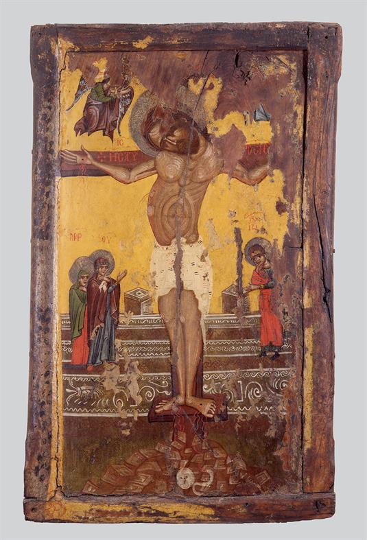 Άγιος Νικόλαος και Σταύρωση του Χριστού