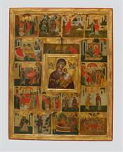 Saint Anna and scenes  from the Life of the Virgin.